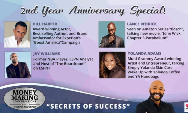 Money Making Conversations: Hill Harper, Jay Williams, Lance Reddick, Yolanda Adams