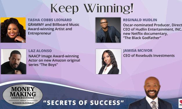 Money Making Conversations: Tasha Cobbs Leonard, Reginald Hudlin, Laz Alonso & Jamisa McIvor