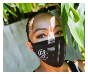 Jody Watley wearing Facial Masks