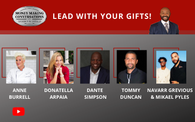 """Anne Burrell- Chef and Food Network Co-Host; Donatella Arpaia – The Meatball Queen; Dante Simpson- Co-Founder of esports digital media company; Tommy Duncan- CEO of JetDoc.com; and Navarr Grevious & Mikael Pyles founders """"QuickLiq"""""""