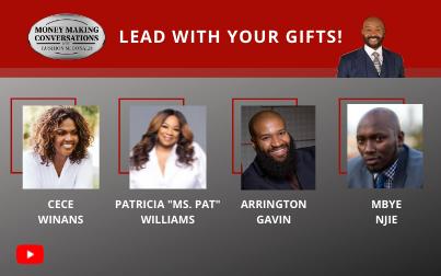 "Grammy Award winning CeCe Winans, BET+ star Patricia ""Ms. Pat"" Williams, beard care line Founder Arrington Gavin & Legal Phone App CEO Mbye Njie"