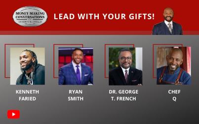 ESPN host Ryan Smith, Clark Atlanta University president Dr. George T. French, NBA Star Kenneth Faried & celebrity Chef Q