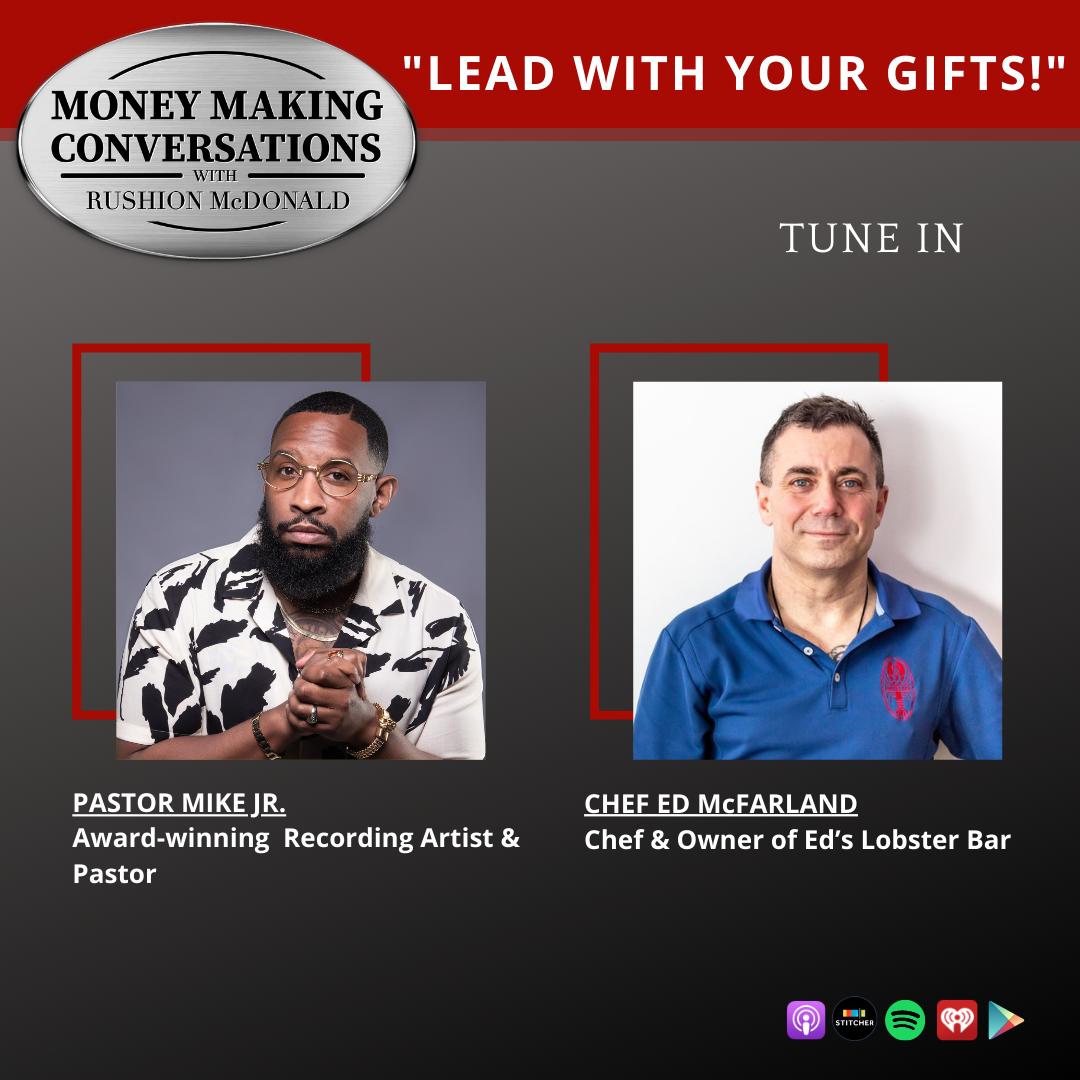 money making conversations British comedian Gina Yashere, Gospel Music Exec Phil Thornton